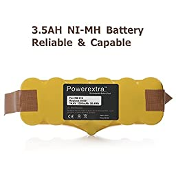 Powerextra 3.5Ah Ni-MH Battery for iRobot Roomba R3 500,600,700&800 900 Series 500 510 530 531 532 535 536 540 550 552 560 562 570 580 595 600 620 630 650 660 700 760 770 780 790 800 870 880 900 980