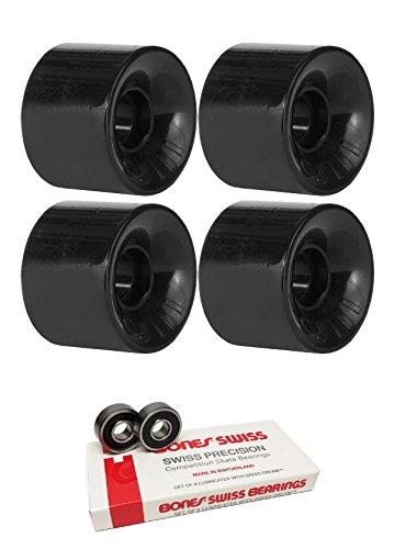 55 mm OJ Wheels Hot Juice Mini Wheels with Bones Bearings – 8 mm Bones Swiss Bearings – 2アイテムのバンドル   B06X3WGLXH