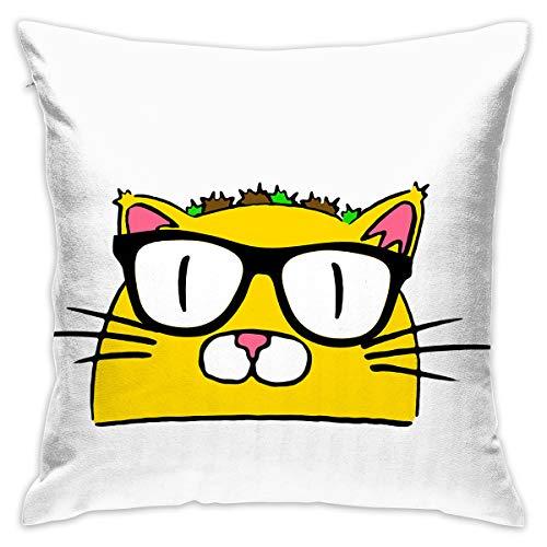 Karen Felix Throw Pillow Covers Doctor Taco Cat Decorative Cushion Case for Sofa Bedroom Car 18 X 18 Inch 45 X 45 -