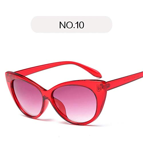 YHEGV Charm Cat Eye Sunglasses Women Clear Lens Vintage Sun Glasses Transparent Curve Cateye Design Katie Holmes Eyeglasses