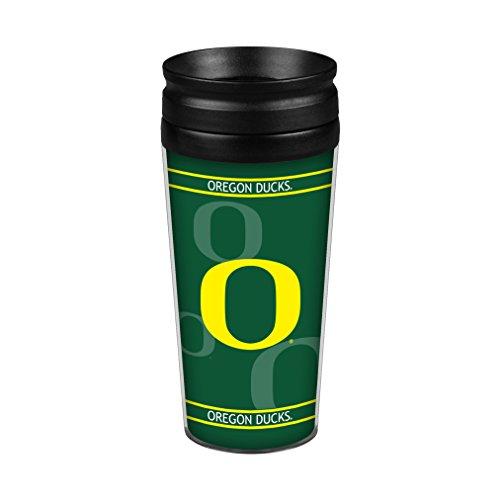 (Boelter Brands NCAA Oregon Ducks Full Wrap Travel Tumbler, 14-Ounce, Green)