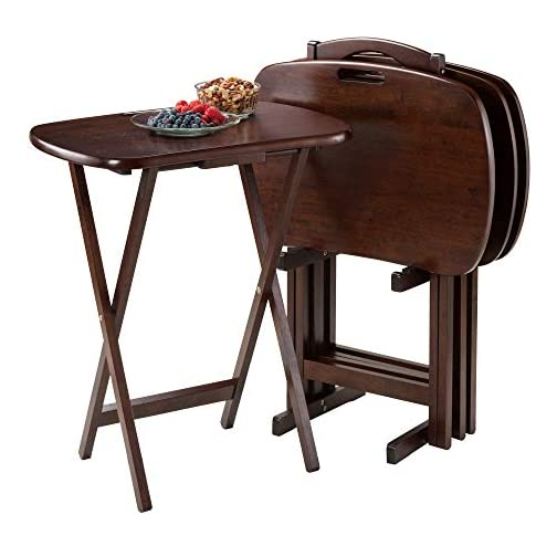 Winsome Lucca Snack Table, 22.83″W x 25.79″H x 15.67″D, Brown