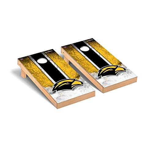 (Victory Tailgate Regulation Collegiate NCAA Vintage Series Cornhole Board Set - 2 Boards, 8 Bags - Southern Mississippi Golden Eagles)
