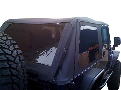 RAMPAGE PRODUCTS 109735 Frameless Trail Top for 1997-2006 Jeep Wrangler, Black Diamond Sailcloth w/Tinted Windows