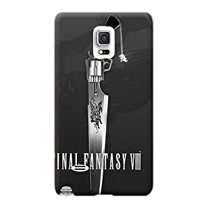 Scratch Protection Cell-phone Hard Cover For Samsung Galaxy Note 4 With Unique Design Fashion Final Fantasy Viii Pattern MarcClements