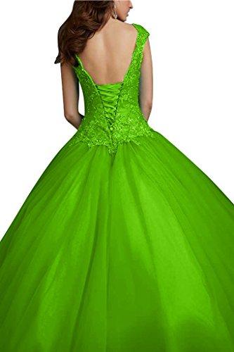 Promkleid Abendkleid Damen Applikation Grün Spitze Ivydressing amp;Tuell Satin Hochwertig Schnuerung 0Zxwqd8P
