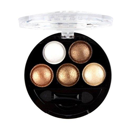 Matte Eyeshadow Palette,CYCTECH Fashion 5 Colors Cosmetic Powder Eyeshadow Palette Makeup Set (5 Colors Palett)