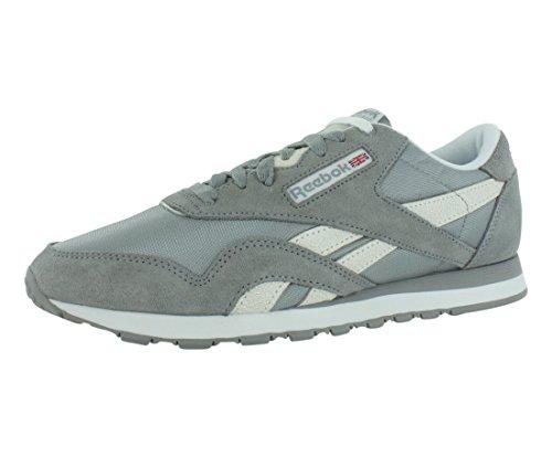 Reebok Men's Classic Nylon Monocolor Shoe,Flat Grey/White/Steel,11 M US