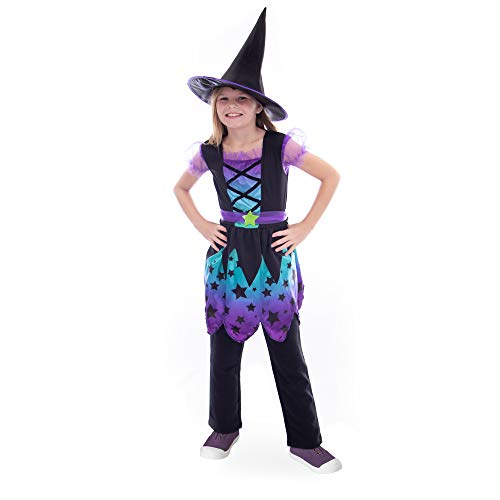 Boo! Inc Enchanting Witch Children's Halloween Costume | Girl's Fairy Tale Outfit, L ()