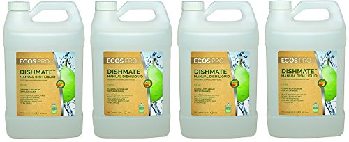 Earth Friendly Products Proline PL9720/04 Dishmate Pear Ultra-Concentrated Liquid Dishwashing Cleaner, 1 gallon Bottles (Case of 4) (4-(Case of 4)) by Earth Friendly Proline