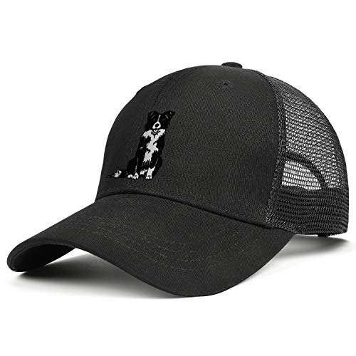 - Men/Women Duck Tongue Hats Border Collie Adjustable Mesh Sandwich Cap