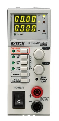 Extech 382260 Switching Mode 80 Watt DC Power Supply by Extech