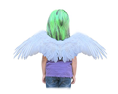 White Swan Halloween Costumes (SACASUSA (TM) Small Feather Angel Wings with Free Halo in White)