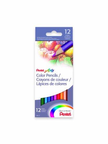 PPentel Pencils Assorted Colors CB8 12