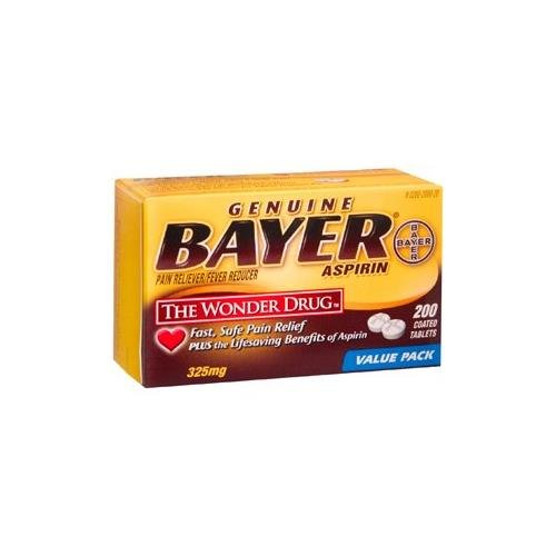 BAYER ASPIRIN TAB 200TB by BAYER CORPORATION - Buy Packs and SAVE (Pack of 5)