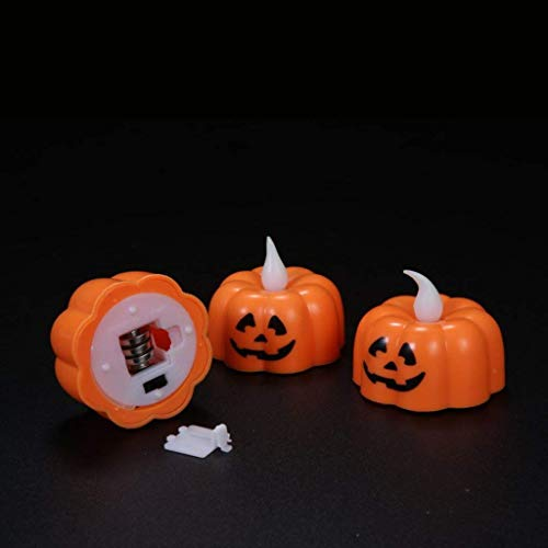 Halloween Decorations Candles Tea Lights, Battery Operated, Flickering Flameless (12PCS) by Friendship Shop (Image #3)