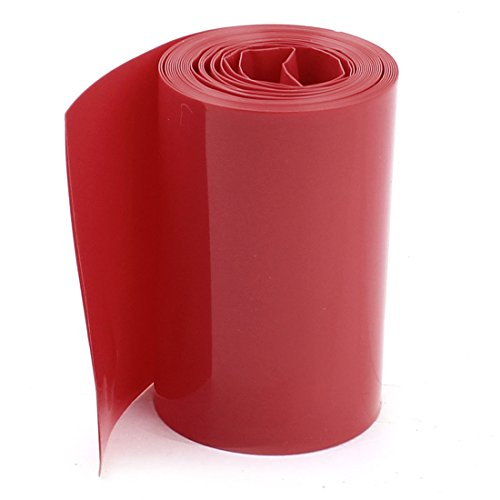 Uxcell PVC Heat Shrink Wrap for 18650 Battery Pack, 5 m, 85 mm Width, (Tubing Pack)