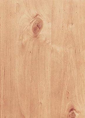 "Knotty Alder Wood Veneer 3M Peel & Stick Adhesive PSA 2' X 8' (24"" x 96"")"