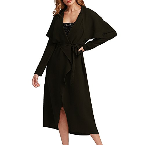 Long Black Trench Coat - 4