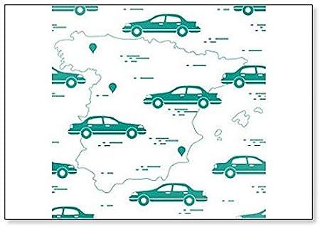 Patrón con coches y mapa de España. Imán para nevera de viaje y ocio: Amazon.es: Hogar
