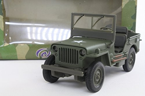 (US Army Willy's Jeep Diecast Scale 1:32 Model Army Green by Gate)
