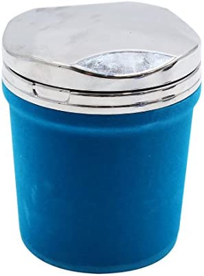 uxcell 車の灰皿 ブルー 自動車 カラフル ライト LED 旅行 シガレット シリンダー たばこ 灰皿 灰 ホルダー