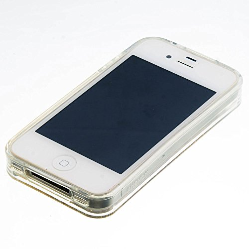 Für Apple iPhone 4 4G 4S (3,5 Zoll) Hülle ZeWoo® TPU Schutzhülle Silikon Tasche Case Cover - GS129 / rosa