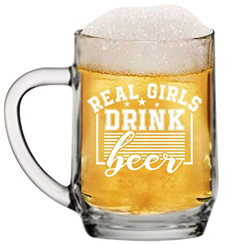 Beer Girl Mug for Girly Beer Drinking Woman Who Just Loves a Beer Perfect Novelty Gift Idea With Prime by Mugish 20oz ()