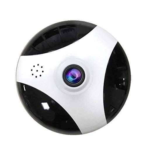 1949shop IP Camera Wireless WiFi Indoor Security Camera Home Surveillance System Baby Pet Monitor, 360 Panorama Loop Record, Two-Way Audio, Motion Detect Alert,White+Black-3MP(focallength2.8mm)