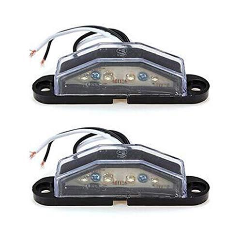 2pcs/set LED Number Plate Light with 4pcs LEDs for Truck UTE Trailer 10-30V
