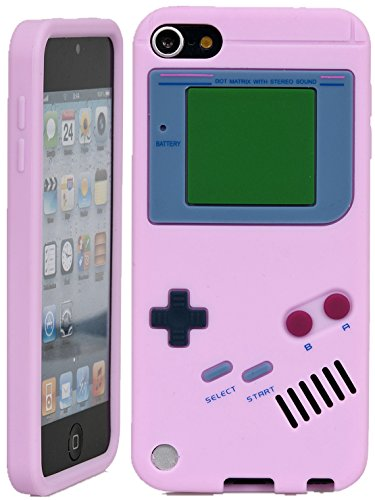 iPod Touch, iSee Case (TM) Game Boy Control Silicone Full Cover Case for Apple iPod Touch 6 6th Generation / 5 5th Generation (it6-Gameboy Light Pink) (5th Game Boy Case Generation Ipod)