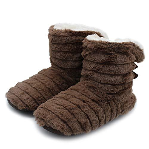 Mignon Korea New Chocolat Home Peluche Bow Femmes Donad Chambre D'hiver En Chaussures De Pantoufles Chaudes Style Imprimer qYxwHt0H