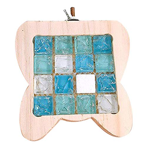 TeDUnaxxme Pet Wooden Pedal Small Pet Hamster Crystal Stone Cooling Mat Pad Board Cage Ornament