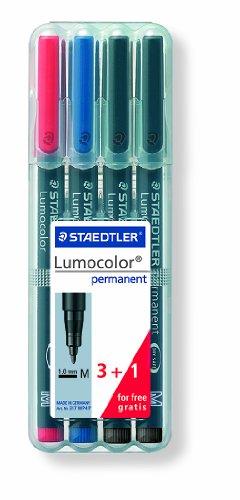 Staedtler Lumocolor Permanent Markers Bonus Pack, ()