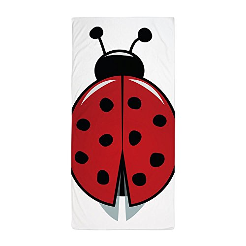 CafePress - Red Ladybug Beach Towel - Large Beach Towel, Soft 30''x60'' Towel with Unique Design by CafePress