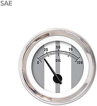 Aurora Instruments 3866 Cobra Gray SAE Oil Pressure Gauge Black Modern Needles, Chrome Trim Rings, Style Kit DIY Install