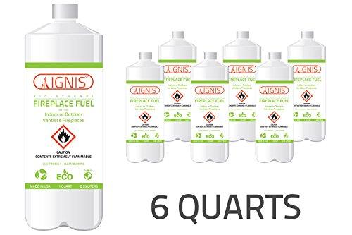 Ignis Bio Ethanol Fuel for Ventless Fireplace Indoor/Outdoor