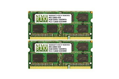 Apple 8GB Memory Kit (2x4GB) DDR3-1600MHz PC3-12800 SODIMM for MacBook (Macbook Ram Upgrade)
