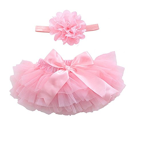 Be Sweet Mohair (Luyun Infant and Toddlers Girls Cotton Tulle Ruffle with Bow Baby Bloomer Diaper Cover and Headband Set)