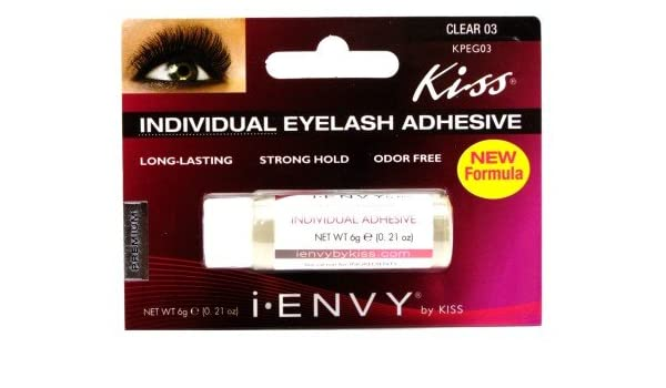 5a30b6ed97c Amazon.com : Kiss I Envy Clear 03 Individual Eyelash Adhesive 0.21 oz. :  Beauty
