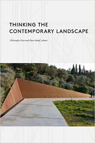 Thinking The Contemporary Landscape Girot Christophe Imhof