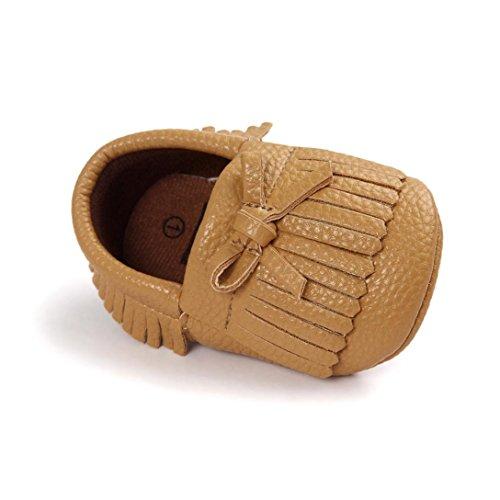 BZLine® Baby-Krippe Quasten Bowknot Schuhe Sneakers Casual Schuhe (13, Khaki)