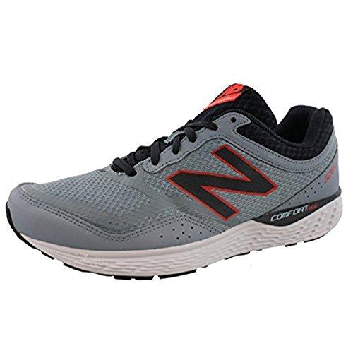 New Balance Mens 520v2 Running Shoe, Light Grey/Coral/Black, 44.5 4E EU/10 4E UK