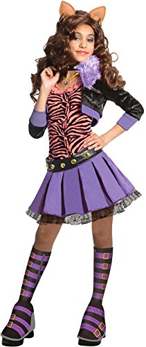 [Monster High Clawdeen Wolf Deluxe Girls Costume Md] (Clawdeen Wolf Costumes With Wig)