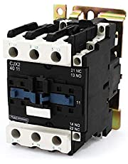Fnnimc CJX2-4011 AC Distribution Electrical Contactor 110V 50Hz/60Hz Coil 40A 3-Phase 3-Pole NO NC