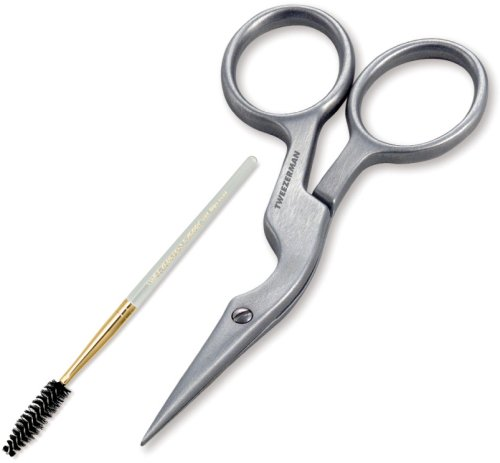 (Tweezerman Stainless Brow Shaping Scissor and Brush)