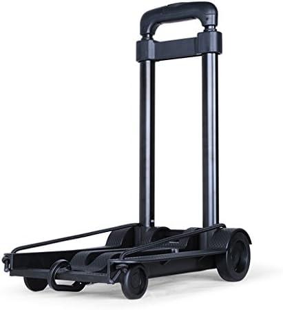 ZQZ ハンドトラック 折りたたみ式カート ポータブルショッピングカート 軽量カート ホームプルカート ミニ高齢者トロリー (#) ブラック ZQ-014