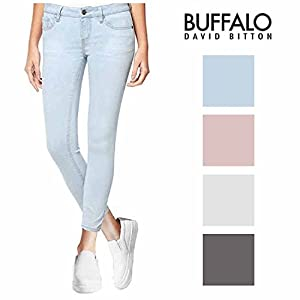 BUFFALO David Bitton Women's Mid-Rise Skinny Stretch Ankle Grazer Jean