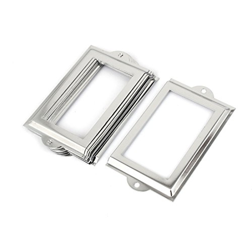 Uxcell Library 105x60mm File Drawer Tag Label Holder Name Card Frame, 10 Pieces (a15123000ux0432)