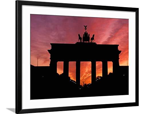 ArtEdge Brandenburg Gate, Unter Den Linden, Berlin, Germany by Dave Bartruff, Black Matted Wall Art Framed Print, 24 x ()